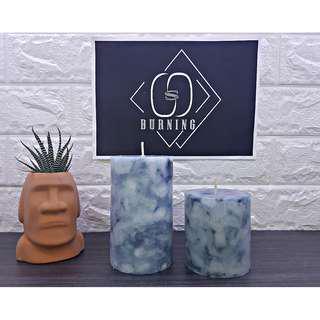 🚚 『G&S Buring』大理石系列-香氛蠟燭 海洋藍大理石蠟燭