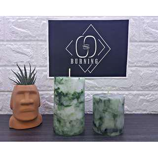 🚚 『G&S Buring』大理石系列-香氛蠟燭 森林綠大理石蠟燭