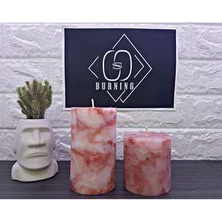 🚚 『G&S Buring』大理石系列-香氛蠟燭 愛戀紅大理石蠟燭