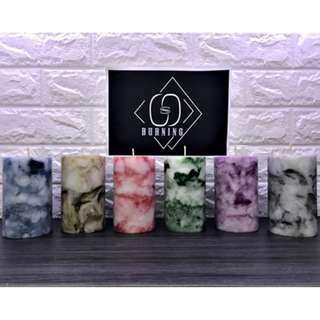 🚚 『G&S Buring』大理石系列-香氛蠟燭.純手工製作 大尺寸大理石蠟燭