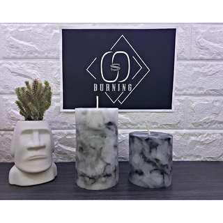 🚚 『G&S Buring』大理石系列-香氛蠟燭 經典白色大理石蠟燭