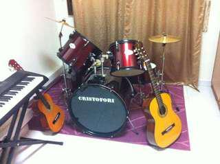 Acoustic Drum set - Cristofori DS500K black