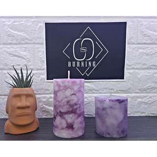 🚚 『G&S Buring』大理石系列-香氛蠟燭 浪漫紫大理石蠟燭