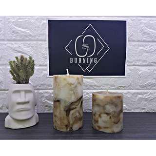 🚚 『G&S Buring』大理石系列-香氛蠟燭 沉穩棕大理石蠟燭
