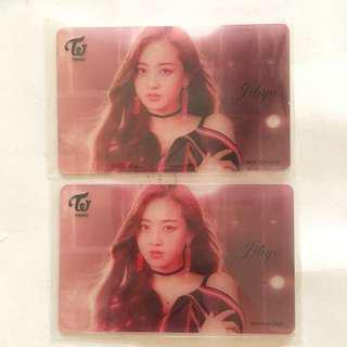 [INS] Twice WMU Wake Me Up Transparent Lottery Photocard Jihyo