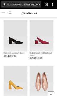 Stradivarius middle heels black