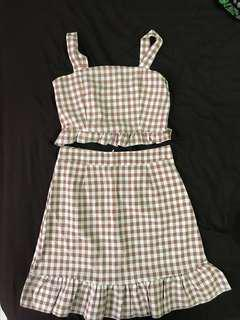 Checkered TOP and Skirt (whole set)