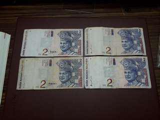 Duit Lama RM2 8th&9th Series (4 pcs)