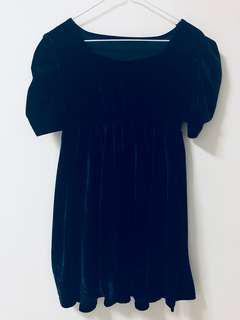 Velvet Navy Blue Dress
