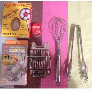 🚚 煮蛋計時器+切蛋器+夾蛋器+打蛋器