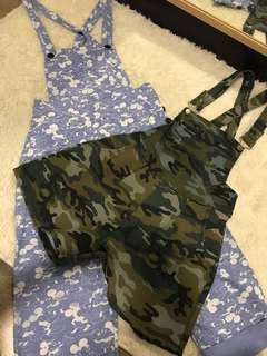2 Pcs Culotte Jumpsuit