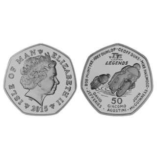 2015 Isle of Man TT Legends 50p coin (AG98)