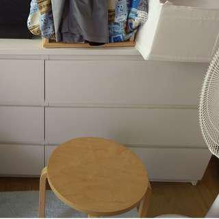 IKEA 白色6格抽屜櫃【日式二手店 大和堂】