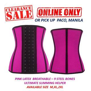 2f5a51d84ea Pink Latex Breathable Waist Trainer - The Ultimate Slimming Helper
