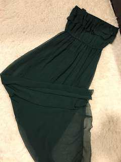 Tube Dress (Dark Green)