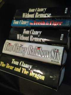 tom clancy hardcover,  besar,  tebal