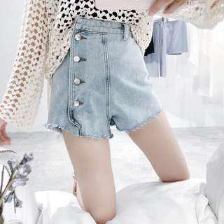 #UNDER90 Side Button High Waist Short