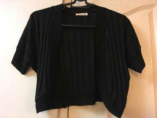Black Knitted Bolero