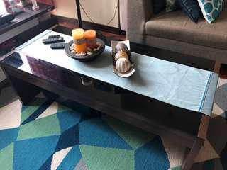Dark brown coffee table (Mandaue Foam)