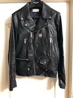 全新saint Laurent Paris leather jacket Sz 48 new (原價$42500)