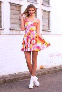 Black Milk Peace and Love Skater dress L