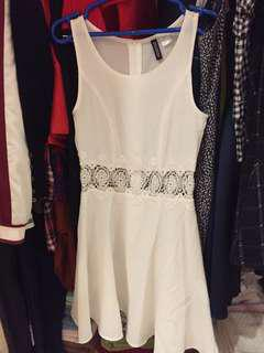 White H&M Summer Dress crochet