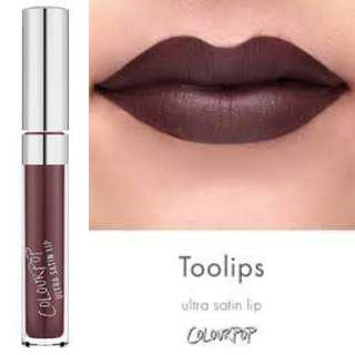 Colourpop Ultra Satin Liquid Lipstick in TOOLIPS