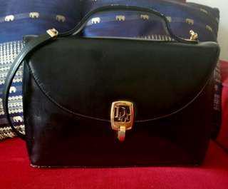 Authentic Christian Dior Vintage Calfskin Shoulder Bag
