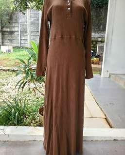 Long dress size L to xl ( long dress cantik / long dress import / baju muslim )