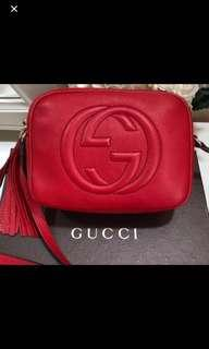 Red Gucci Soho bag. Authentic. Fast deal 750 today