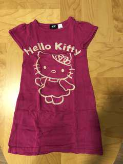 H&M hello kitty knitted dress fitting 4 - 6 years old