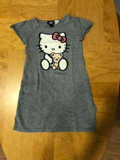 H&M hello kitty knitted dress 110/116