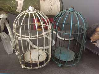 Two cages for display