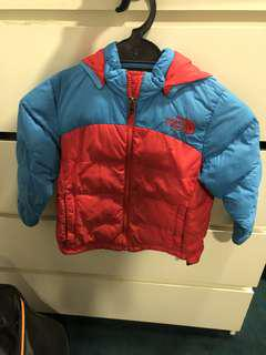 North face unisex Toddler Winter Down Jacket for 3 years old