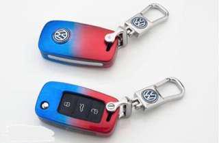 VW Volkswagen Key case cover for mk5/6 with metal keychain