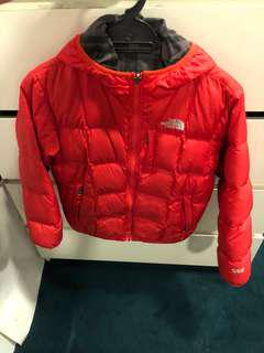 North Face unisex reversible down winter jacket fitting 9 to 12 years old