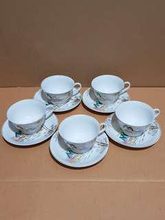 Uniquely Crafted Vintage Lithophane Japan Tea Cups (5pcs)