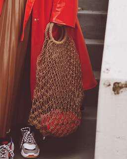 Mango brown string bag