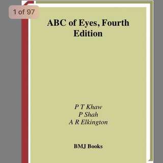 Ophthalmology ABC ebook