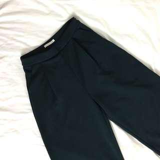 Emerald Green Flare Cut Pants