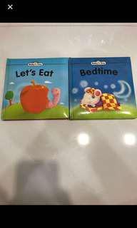 Preloved 2 x Baby's Day Books (Let's Eat, Bedtime)