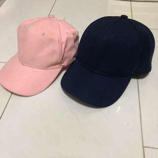 🚚 Basic Navy and Pink Baseball Caps
