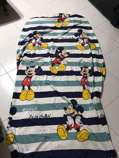 Mickey single fitted sheet set