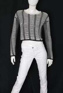 Topshop cropped knit L/S top