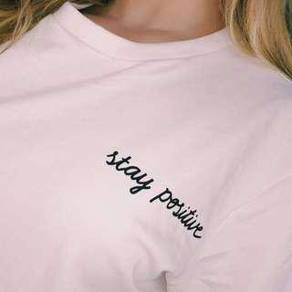 H&M Stay Positive Sweater