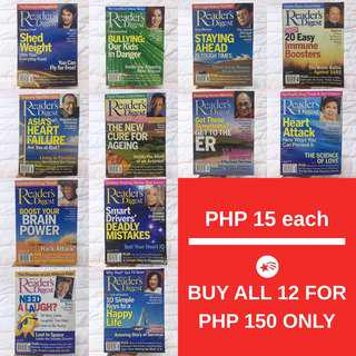 Reader's Digest Back Issues