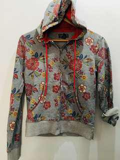 Lucky Brand Floral Hoodie Jacket