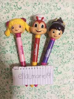 Jollibee Hetty Twirlie Pop Out Pens