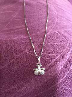 14k Italian Whitegold Necklace