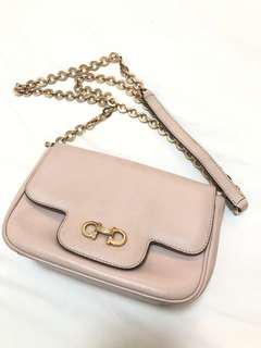 Salvatore Ferragamo Chain Bag in Baby Pink
